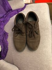 womens shoes size 8 Lands End, Brown Suede Snow