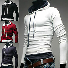 [Korea Mall]Mens Design Casual Slim Fit Double String Hoodie T-Shirts_(on SALE)