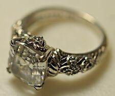 Judith Ripka Sterling Silver 925 Asscher Cut Cubic Zirconia Ring Size 7