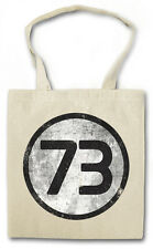 BLACK NUMBER 73 III BIG BANG VINTAGE THEORY LOGO Hipster Shopping Cotton Bag