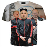 New Fashion Women/Men Kim Jong-un Funny 3D Print Casual T-Shirt TK294
