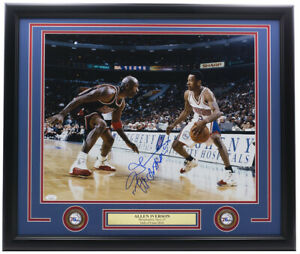 Allen Iverson Signed Framed 76ers 16x20 Photo The Answer JSA ITP