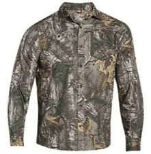 NWT Under Armour Camo Hunting Fishing Long Sleeve  Shirt Realtree All Season L