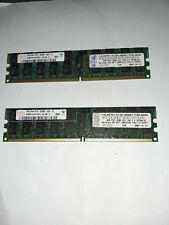 8GB 2x4GB PC2-3200R 2RX4 ECC REGISTERED RAM SERVER WORKSTATION DDR2 400MHZ 41Y28