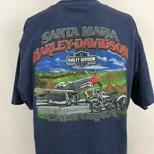 Harley Davidson Motorcycles Santa Maria CA US Air Force Phantom F4 T-Shirt L