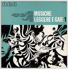 LIBRARY MUSIC : MUSICHE LEGGERE E GAIE 1 - LP ITALY 1070 - Piccioni, Umiliani...