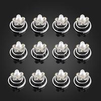 12pcs Wedding Bridal Hair Twists Spirals Crystal Pearl Flower Pins Accessories