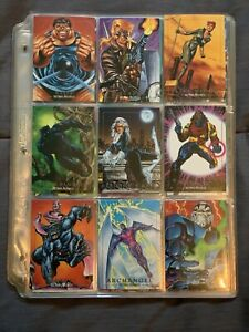 1992 Marvel Masterpieces Complete Base Set 1-100 By SkyBox