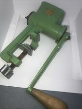 More details for vintage spong 100 green enamel meat grinder mincer art deco table top ex cond