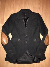 Smythe Leather Elbow Patch Equestrian Riding Blazer Wool Jacket Size 10