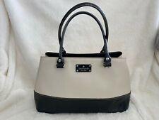 KATE SPADE Black White Berkeley Lane Rachelle Wellesley Bag Handbag Purse Large