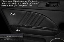 Gris stitch 2x porte arrière garniture carte cuir couvre Fits Alfa Romeo 159 05-12