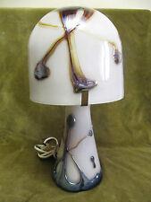 Lampe Verre Biot Michèle LUZORO ep NOVARO (French art glass lamp)