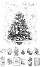 """Adult Grayscale Coloring Book (24 cards 4.5""""x6.5"""") Christmas Tree Santa FLONZ505"""