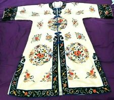 New listing Bai Hua Womens Vintage Chinese Silk Robe Hand Embroidered Asian Dress 1900s Vtg