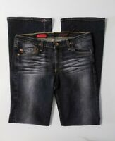 AG Adriano Goldschmied Womens Black Washed Jeans The Angel Bootcut Size 29R