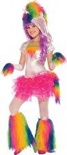 Girls Rainbow Unicorn Tutu Costume Fantasy Magical Fairy Tale Kids Size SM 4-6