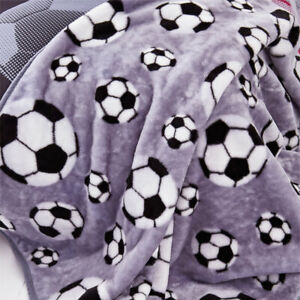 Catherine Lansfield Neon Football Throw, Grey, 120 x 150 Cm