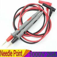 2Pcs 20A Needle Point Multi Meter Test Probe / Lead For Digital Multimeter Fluke