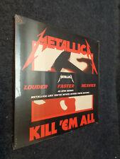 METALLICA KILL 'EM ALL LOUDER FASTER HEAVIER 45 RPM 2LP SEALED - N2 - FLG