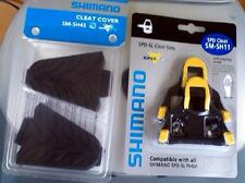 Shimano SM-SH11 SM-SH45 Combo SPD-SL Cleats & Covers Yellow Cleat w/Rubber Cover