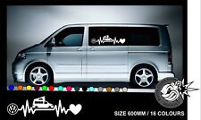 VW HEARTBEAT T5 P VAN CAMPER Car/Window/Van VW VAG  Vinyl Decal Sticker
