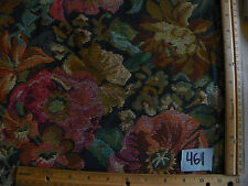 Green Beige Burgundy Flower Tapestry Fabric / Upholstery Fabric  1 Yard  F461