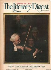 1922 Literary Digest February 25 - Norman Rockwell Cover only -The Violin Player