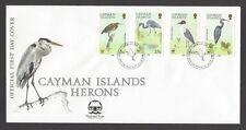 Cayman Islands 1988 Herons - Birds 4v FDC + information brochure