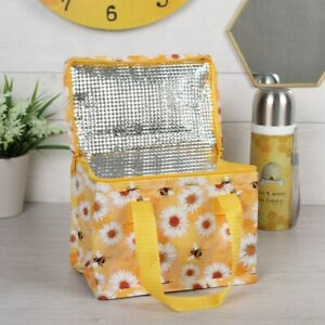 Daisy & Bee Cooler Bag Picnic Travel School Work Yellow Flowers Lunch Box NEW