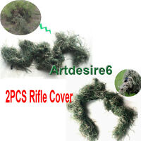 2PCS Hunting Camouflage Rifle Gun Weapon Cover forCamo Ghillie SniperPaintball