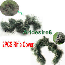 2PCS Hunting Camouflage Rifle Gun Weapon Cover for Camo Ghillie Sniper Paintball