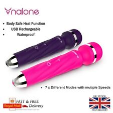 Magic Wand Full Body Sports Massager Vibrating Speeds Rechargeable Heat Function