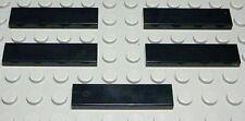 Lego Fliese - Kachel 1x4 Schwarz 5 Stück                                   (266)