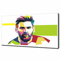 LIONEL MESSI CANVAS PICTURE PRINT WALL ART HOME DECOR FREE DELIVERY