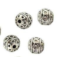 Kegel Tibet Style Silber Metallperlen 11x8mm 5 Stück #U53