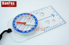 KANPAS Hiking and basic orienteering  baseplate compass,MAB-40-F