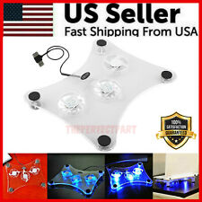 3 Fans USB Cooler Cooling Pad Stand LED Light Radiator For Laptop PC Notebook