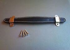 Black Stitched Leather Handle fits Fender Champ Deluxe Bassman guitar amplifier
