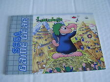 SEGA GAME GEAR REPLACEMENT INSTRUCTION MANUAL LEMMINGS