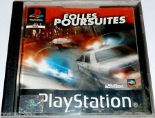 PlayStation 1 jeu video FOLLES POURSUITES course compatible console PS2 PSX PS1