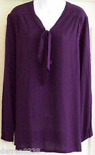 NEW~JOJO MAMAN~PURPLE MATERNITY TUNIC TOP 12 LONG SLEEVED PLUM