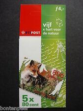 NVPH PB 64 POSTFRIS 5 X HART VOOR DE NATUUR 2000 CAT.WRD. 7,50 EURO