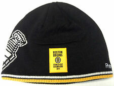 NWT NHL 2011 Boston Bruins Stanley Cup Champions Reebok Knit Hat Beanie Cap OSFA