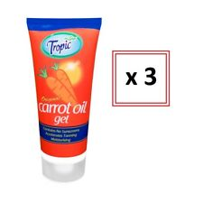 3 x Carrot Oil Gel 100ml Sun Tropic Tanning Moisturising Accelerates Tan 146478