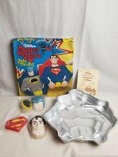 Wilton Vintage Super Hero Batman Superman Cake Pan Set