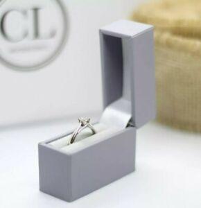 ring box engagement ring box proposal  box wedding ring box, slim in light grey