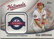 2020 Topps Series 2 RYAN ZIMMERMAN Jumbo Jersey Sleeve Patch Relic Nationals