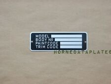CHRYSLER DODGE PLYMOUTH DeSOTO FARGO MODEL BODY PAINT TRIM DATA PLATE ID TAG