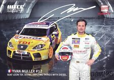 Yvan Muller signed Seat Sport Leon TDI WTCC postcard